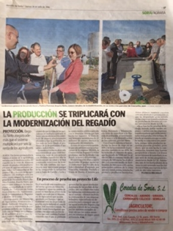 El proyecto LIFE SMART FERTIRRIGATION se desarrolla en parcelas de Almazán y Soria - periódico El Heraldo de Soria