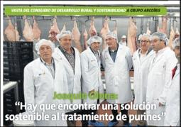 """Joaquín Olona: """"Hay que encontrar una solución sostenible al tratamiento de purines"""""""