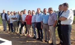 Visita de la Directora General de Desarrollo Rural a las parcelas del proyecto