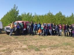 Visita de la Escuela de Capacitación Agraria de Almazán al proyecto