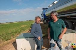 Aplicación de la fracción líquida en campos de cultivo