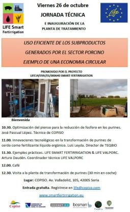 Invitación a la jornada técnica e inauguración de la planta de tratamiento