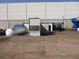TEQBIO coordinates the installation of the drying machinery in the new plant.